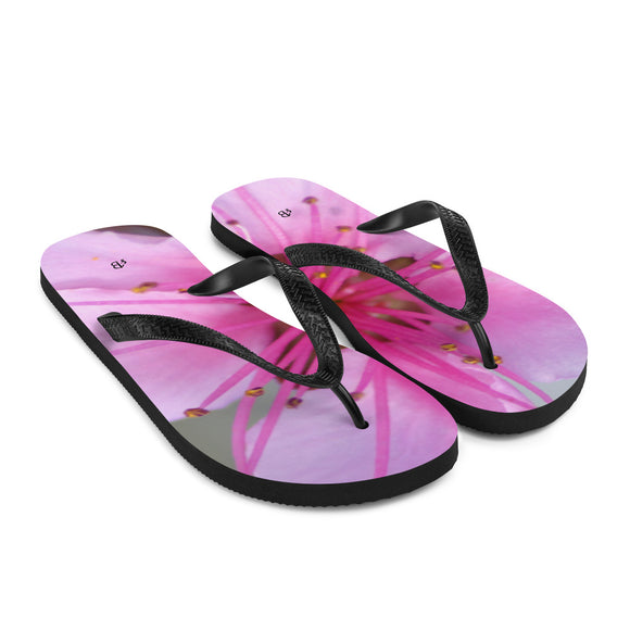 Flip-Flops - Italian Style - Peach Flower - I Love Giveaways