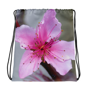 Drawstring Bag - Italian Style - Peach Flower - I Love Giveaways