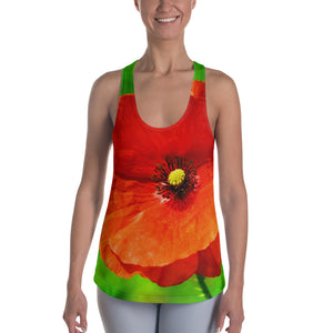 Racerback Tank Top - Italian Style - Red Poppy. Size: XS-S-M-L-XL-2XL - I Love Giveaways