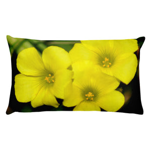 All-Over Print Premium Pillow Case w/ stuffing - Oxalis pes-caprae - I Love Giveaways