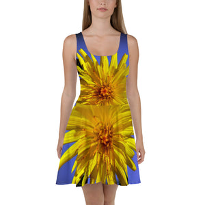 Skater Dress - Italian Style - Dandelion Flower. Size: XS-S-M-L-XL-2XL-3XL - I Love Giveaways