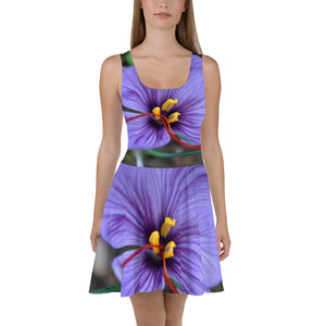 Skater Dress - Italian Style - Saffron Flower 1. Size: XS-S-M-L-XL-2XL-3XL - I Love Giveaways