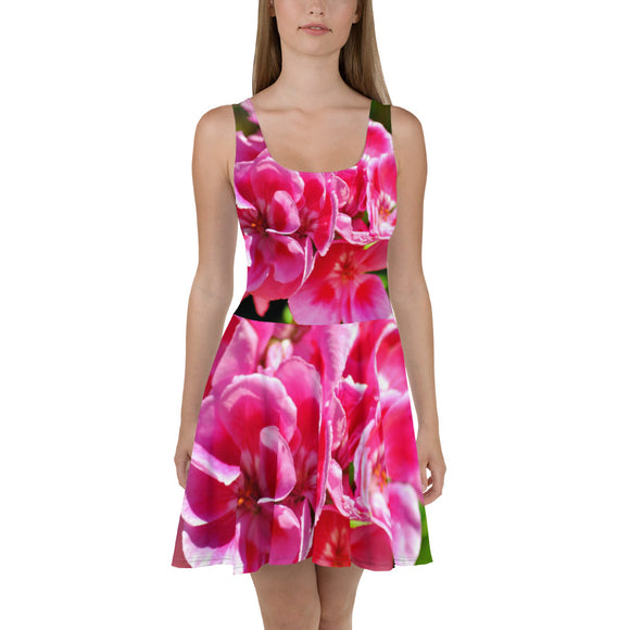 Skater Dress - Italian Style - Geranium 1. Size: XS-S-M-L-XL-2XL-3XL - I Love Giveaways