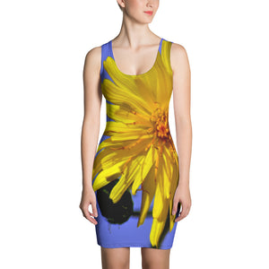 Dress - Italian Style - Dandelion Flower. Size: XS-S-M-L-XL - I Love Giveaways