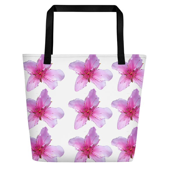 Beach Bag - Italian Style - Peach Flowers - I Love Giveaways