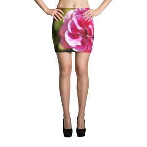 Mini Skirt - Italian Style - Geranium 1. Size: XS-S-M-L-XL - I Love Giveaways