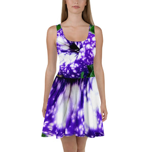 Skater Dress - Italian Style - Blue Stars Surfinia. Size: XS-S-M-L-XL-2XL-3XL - I Love Giveaways