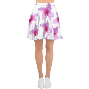 Skater Skirt - Italian Style - Peach Flowers. Size: XS-S-M-L-XL-2XL-3XL - I Love Giveaways