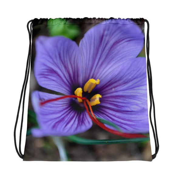 Drawstring bag - Italian Style - Saffron Flower 1 - I Love Giveaways