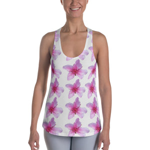 Women's Racerback Tank Top - Italian Style - Peach Flowers. Size: XS-S-M-L-XL-2XL - I Love Giveaways
