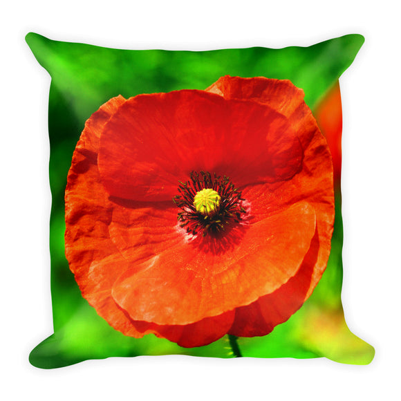 All-Over Print Premium Pillow Case w/ stuffing - Red Poppy - I Love Giveaways
