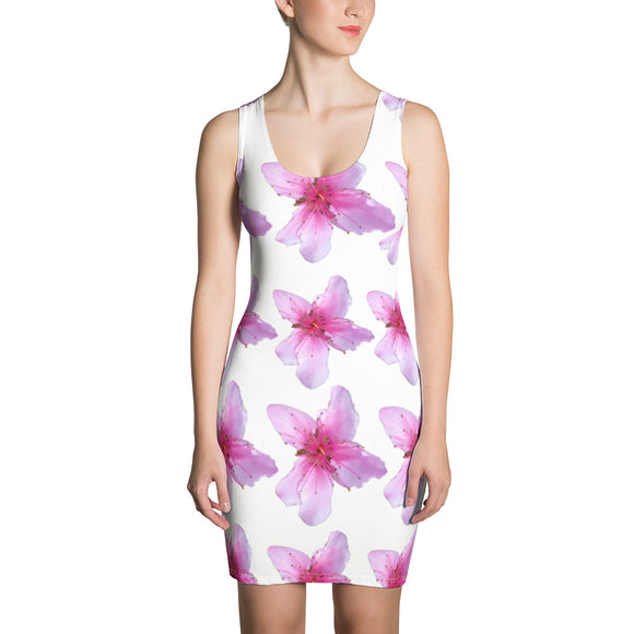 Dress - Italian Style - Peach Flowers. Size: XS-S-M-L-XL - I Love Giveaways