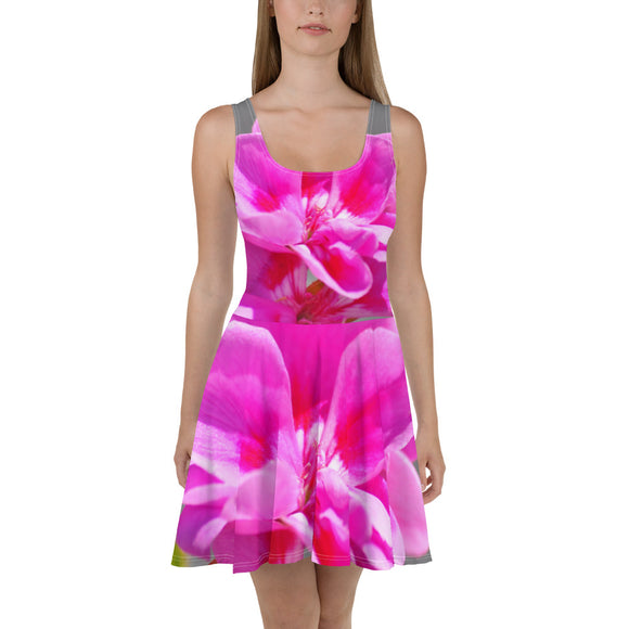 Skater Dress - Italian Style - Geranium 2. Size: XS-S-M-L-XL-2XL-3XL - I Love Giveaways