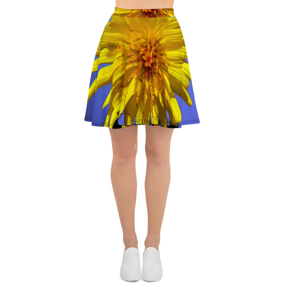 Skater Skirt - Italian Style - Dandelion Flower. Size: XS-S-M-L-XL-2XL-3XL - I Love Giveaways
