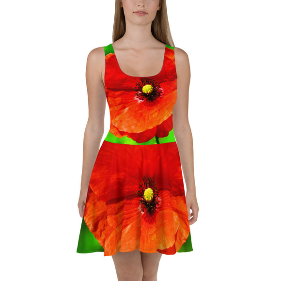 Dress - Italian Style - Red Poppy. Size: XS-S-M-L-XL-2XL-3XL - I Love Giveaways