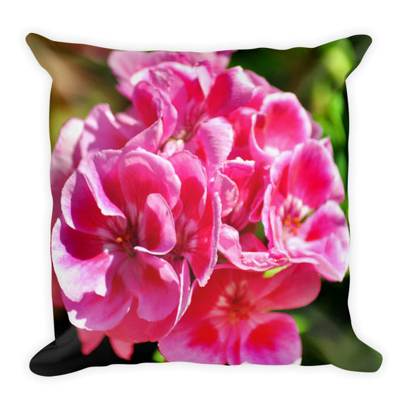 All-Over Print Premium Pillow Case w/ stuffing - Geranium 1 - I Love Giveaways