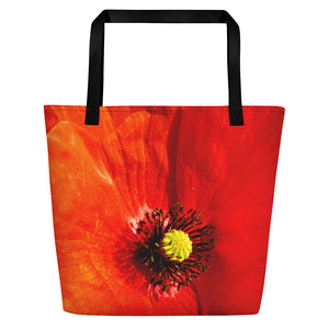 Beach Bag - Italian Style - Red Poppy - I Love Giveaways