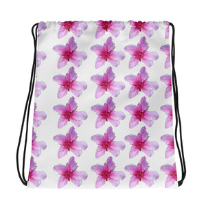 Drawstring Bag - Italian Style - Peach Flowers - I Love Giveaways
