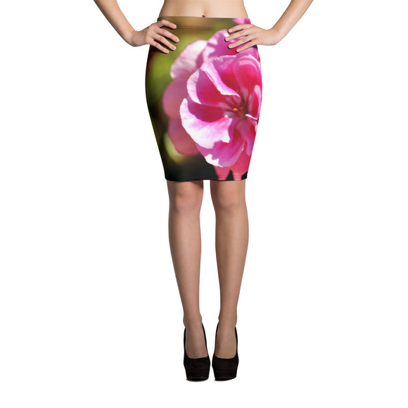 Pencil Skirt - Italian Style - Geranium 1. Size: XS-S-M-L-XL - I Love Giveaways
