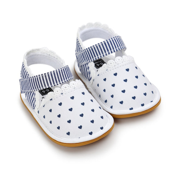 Toddler Baby Girl Prewalkers Summer Shoes Retro Printed Footwear Crib Shoes 0-18 Months New