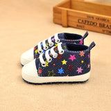 Baby Casual Rainbow Cotton Crib Shoes Soft Sole Anti-Slip Prewalker