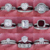 FREE Rings! 925 Sterling Silver Luxury Rings Set. (27-38)
