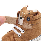 Baby Autumn Shoes Kid Boy Girl Fox Head Lace Cotton Cloth First Walker Anti-slip Soft Sole Toddler Sneaker 1 Pair - I Love Giveaways