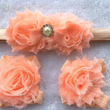 3PCS Flower Headband Baby Girls Barefoot Sandals Hair Foot Accessories Elastic Fashion Foot Decoration Kids Gift - I Love Giveaways