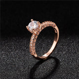 Fashion Luxury Women Engagement Jewelry Silver Color Full Round Zircon Female Wedding Finger Ring - I Love Giveaways