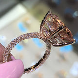 Vintage Ring Rose Gold Filled 925 silver AAAAA Zircon stone Party Wedding Band Rings For Women men Fashion Jewelry - I Love Giveaways