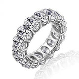 18 Styles Eternity Promise Ring AAAAA Cz 925 Sterling Silver Statement Wedding Band Rings for women men Jewelry Gift - I Love Giveaways