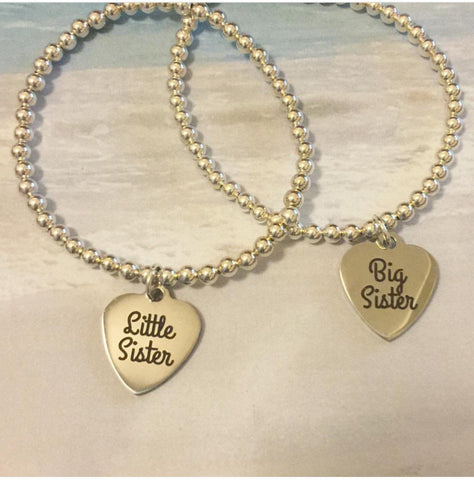 Big Sister -Little Sister - charm bracelet