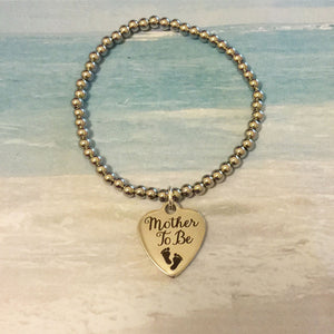 Mother to be Charm Bracelet -baby- babyshower -gifts for her