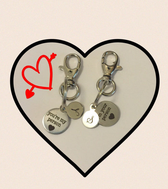 Keychain - hisandhers -bestfriends -besties -imyourperson -you're my person