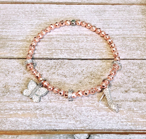 Gemstone Bracelets with Sparkly Pav̩ Spacers and Charms