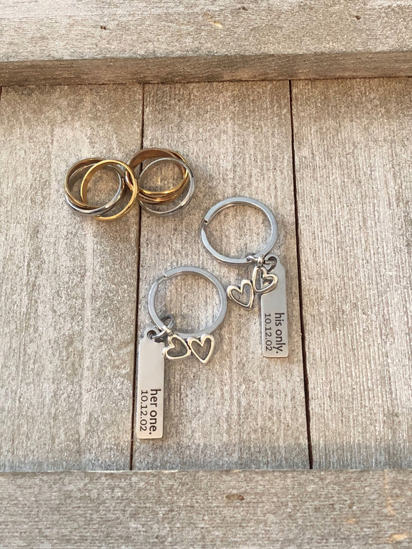 Personalized Keychain add a Date and / or your choice of Engraving