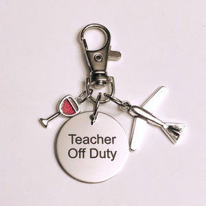 Teacher Retirement Keychain