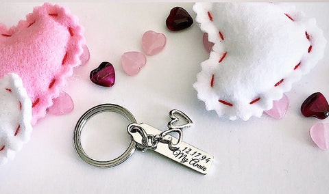 Personalized Keychain- choice of engraving and charm