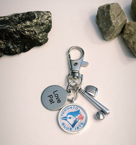 Fathers Day Sports Keychain