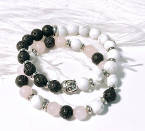 Lava Buddha Diffuser Bracelet - choice of bead opposite lava