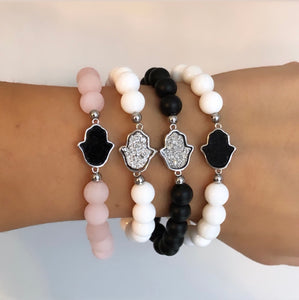 Druzy Quartz Adjustable Bracelets