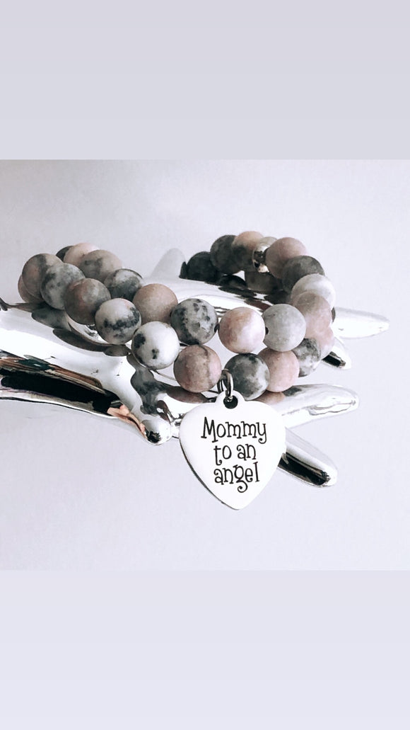 Mommy to an Angel memorial Charm Bracelet