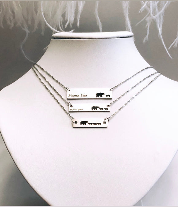 Mama Bear Stainless Steel Mom Necklaces