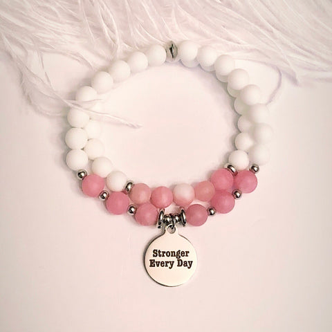 Stronger Every Day Charm Bracelet