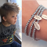 Faith Hope Love Stainless Steel Charm Bracelet