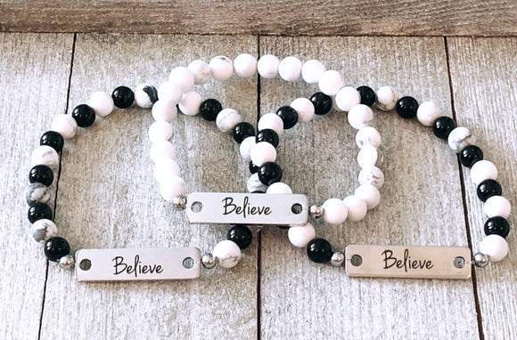 Believe Bar Bracelet