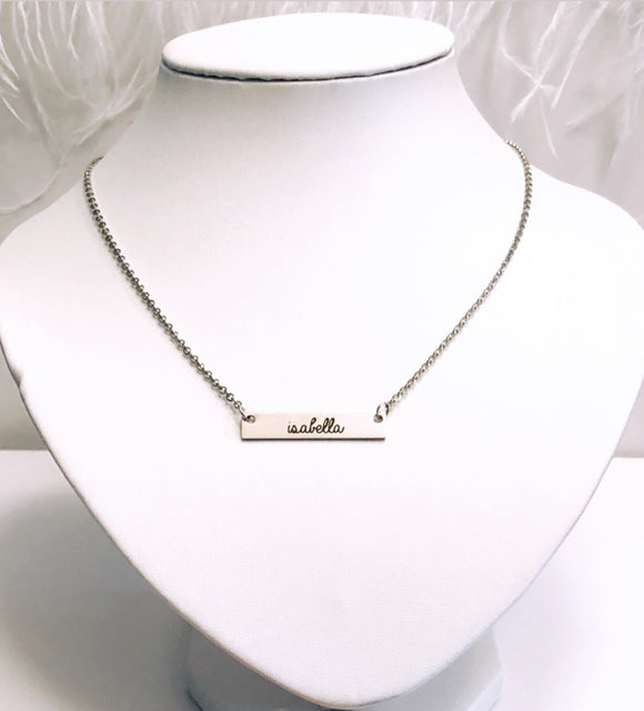 Personalized Bar Necklace or Bracelet