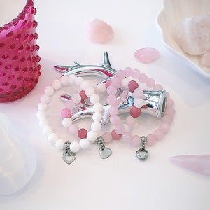 Pretty in Pink Heart Charm Bracelets