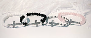 Sparkly Cross Beaded Bracelets