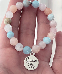 Dream Big Morganite Gemstone Bracelet